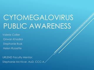Cytomegalovirus Public Awareness
