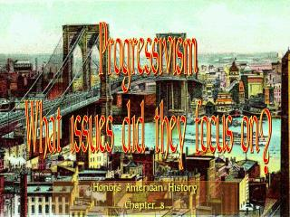 Progressivism What issues did they focus on?