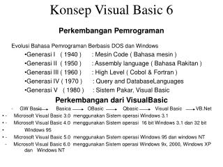 Konsep Visual Basic 6