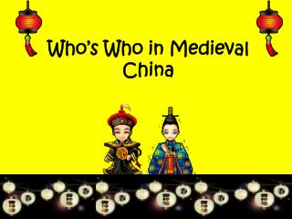 Who's Who in Medieval China