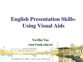 English Presentation Skills-  Using Visual Aids