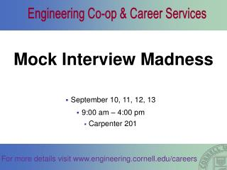 Mock Interview Madness