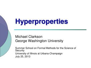 Hyperproperties
