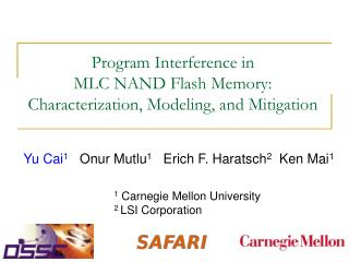 Program Interference in  MLC NAND Flash Memory: Characterization, Modeling, and Mitigation