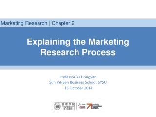 Explaining the Marketing Research Process