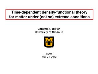Time-dependent density-functional theory for matter under (not so) extreme conditions