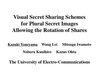 Visual Secret Sharing Schemes  for Plural Secret Images Allowing the Rotation of Shares