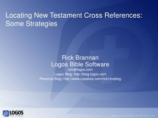 Locating New Testament Cross References: Some Strategies