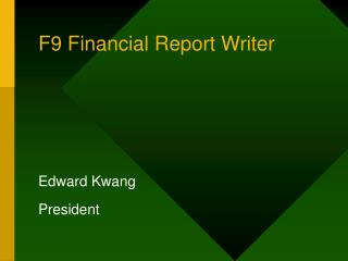 F9 Financial Report Writer