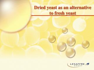 Dried yeast as an alternative to fresh yeast