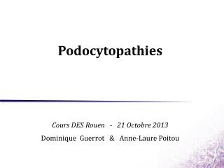 Podocytopathies