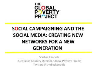 S o cial campaigning and the social media: creating new networks for a new generation