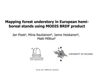 Mapping forest understory in European hemi-boreal stands using MODIS BRDF product