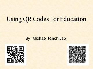 Using QR Codes For Education