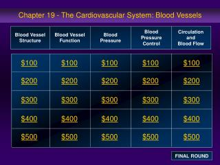 Chapter 19 - The Cardiovascular System: Blood Vessels
