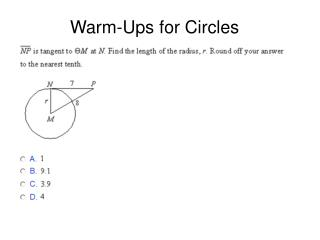 Warm-Ups for Circles