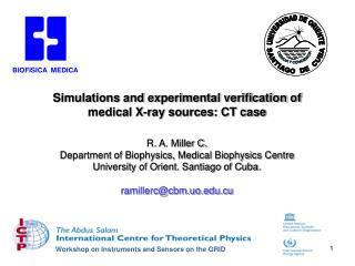 Simulations and experimental verification of medical X-ray sources: CT case
