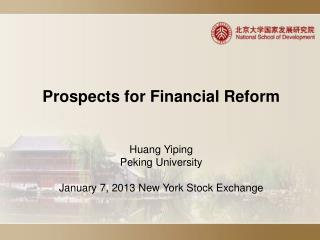 Prospects for Financial Reform