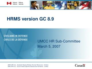 HRMS version GC 8.9