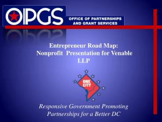 Entrepreneur Road Map: Nonprofit  Presentation for Venable LLP