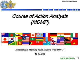 Course of Action Analysis (MDMP)