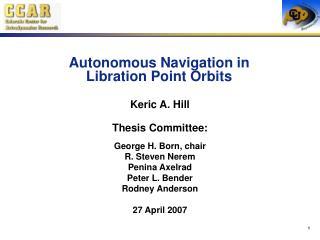Autonomous Navigation in Libration Point Orbits