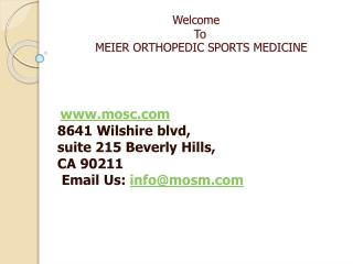 Orthopedic Surgeon Los Angeles