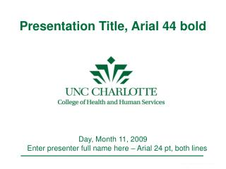 Presentation Title, Arial 44 bold