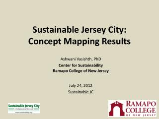 Sustainable Jersey City: Concept Mapping Results
