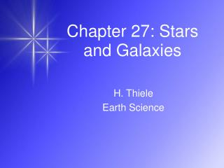 Chapter 27: Stars and Galaxies