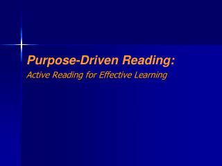 Active Reading for Effective Learning