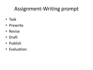 Assignment-Writing prompt