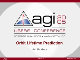 Orbit Lifetime Prediction