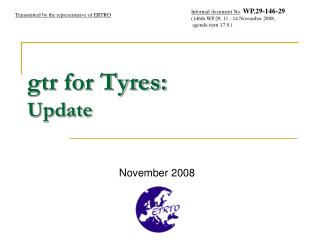gtr for Tyres: Update