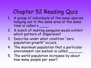 Chapter 52 Reading Quiz