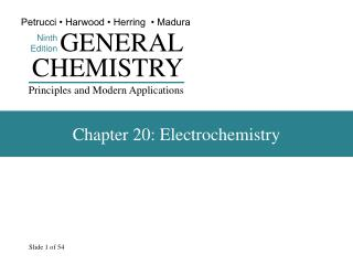 Chapter 20: Electrochemistry