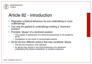 Article 82 - introduction