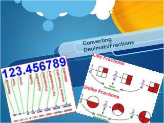 Converting Decimals/Fractions