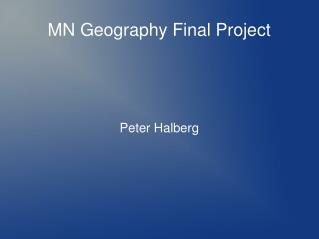 MN Geography Final Project