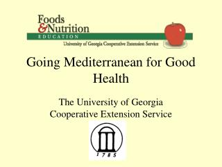 Going Mediterranean for Good Health