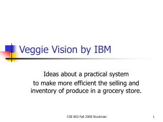 Veggie Vision by IBM