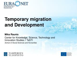 Temporary  migration  and  D evelopment