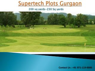 Invest in Supertech Plots Sector 2 Gurgaon