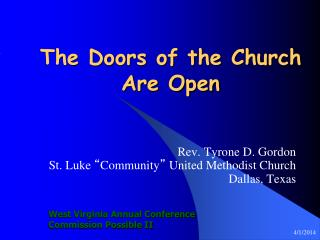 The Doors of the Church Are Open