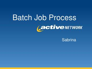 Batch Job Process