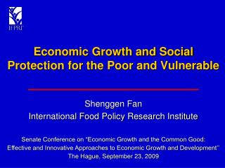 Economic Growth and Social Protection for the Poor and Vulnerable