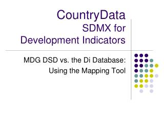 CountryData SDMX for Development Indicators