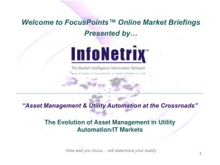 """Asset Management & Utility Automation at the Crossroads"""