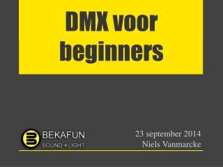 DMX voor beginners