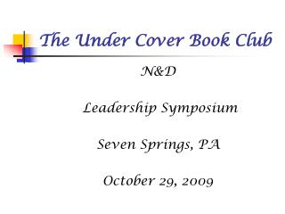 The Under Cover Book Club